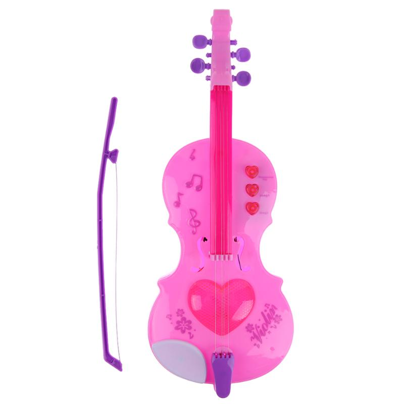 4 Strings Flash Light Magic Electric Guitar Violin Music Strum Stage Intelligence Toys For Education Learning Musical Toy