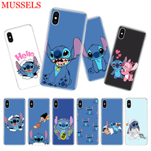 Stitchs Blue Luruxy Phone Case For iPhone 11 Pro 7 8 6 6S Plus X 10 Ten XS MAX XR 5 5S SE Customized Art TPU Cover Coque Shell