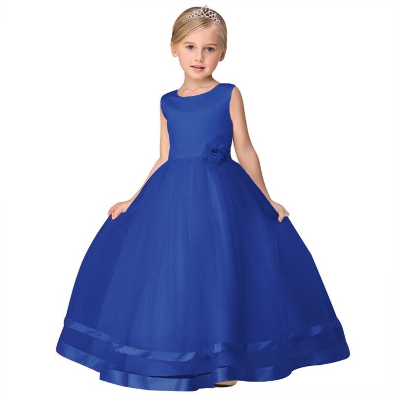 Online Shop Fashion children evening long gown party wear big ball ...
