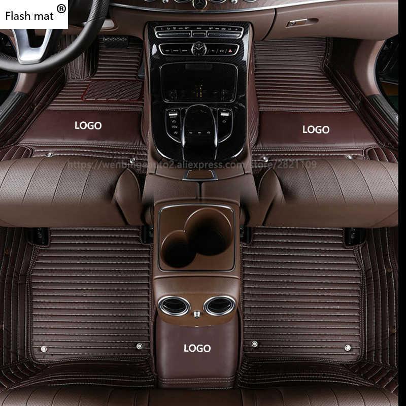 フラッシュマットロゴ車のフロアマットフォード escort fiesta モンデオフォーカスフィエスタエッジエク牡牛座 S-MAX F150 エベレストマスタングマット