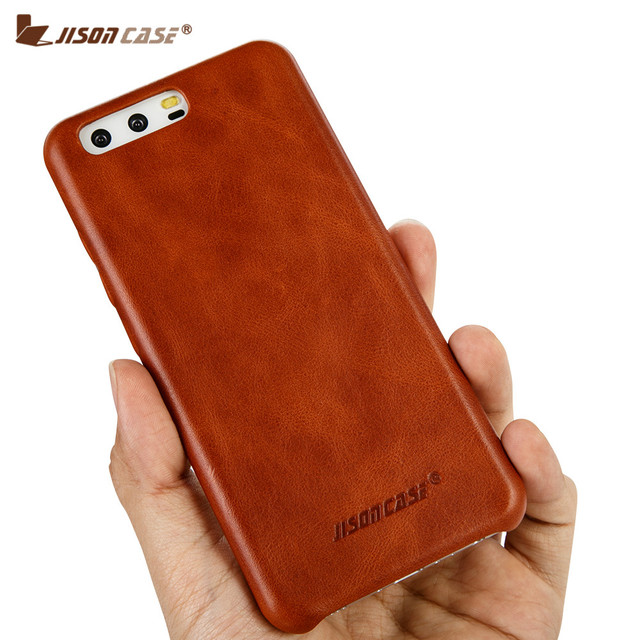 super popular 6e86d 649ea US $15.11 44% OFF|Jisoncase Genuine Leather Cases for Huawei P10 Lite  Luxury Vintage Business Fitted Leather Slim Back Cover for Huawei P10  5.1