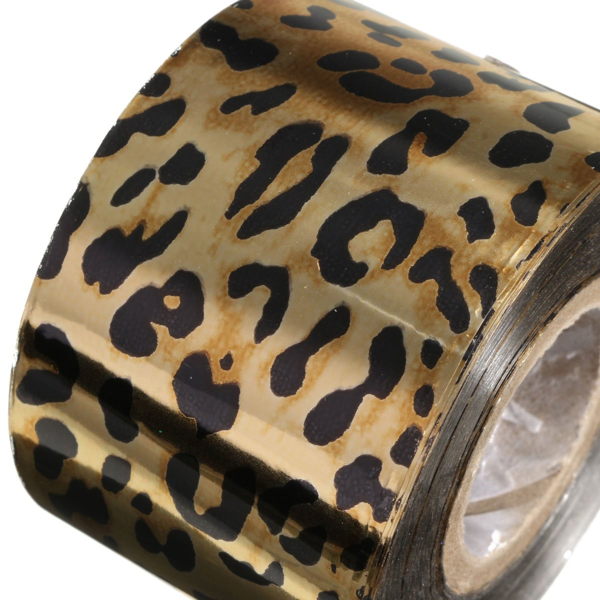 New Fashion 1Roll Leopard Nail Art Foil Stickers Decals Transfer Craft Fingernails Nails Decorations DIY Tool Accessory 5Style 233 style new 8 pcs lot flower nail decals leopard nail art transfer foil sticker tips decoration christmas snow nails