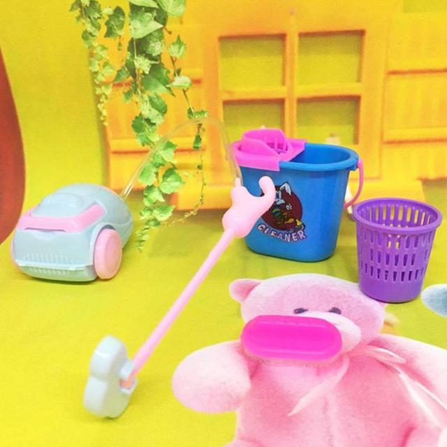 Simulation Cleaning Toys For Doll House 9 pcs Set