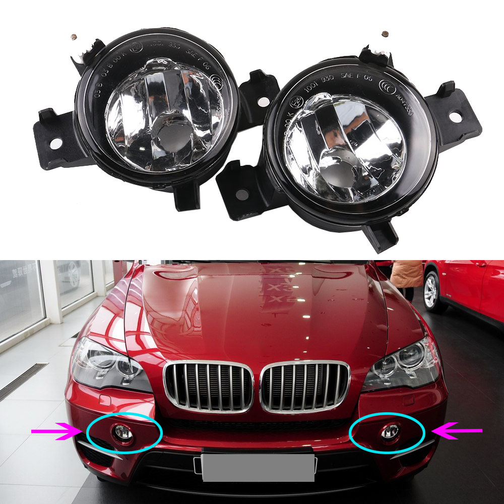 New Pair Right &Left For BMW X5 E70 Sport Package 2011/2012/2013 Fog Light Housing Lamp Without Bulbs 63177224644 6317 7224643 new pair left