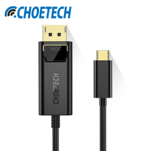 CHOETECH USB Type C to DisplayPort Adapter Cable For Samsung S8 Plus 4Kx2K@60Hz USB-C to DP Cable For MacBook Pro 2017/2016