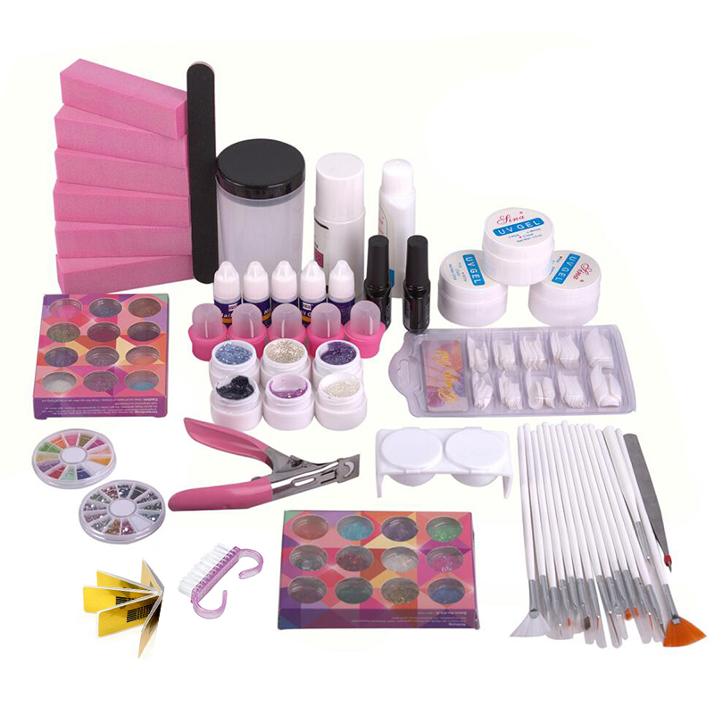 Professional Nail Art Decoration Set, Uv Gel Nail Sets