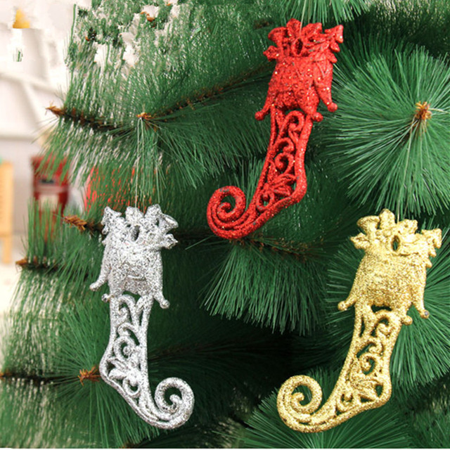 Boots Christmas Tree Ornaments Christmas Decorations 14x6cm Sticky