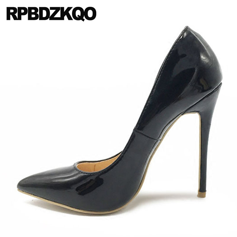 luxury brand shoes women high heels 12cm 5 inch exotic dancer thin pointed toe ultra super catwalk black extreme pumps fetishluxury brand shoes women high heels 12cm 5 inch exotic dancer thin pointed toe ultra super catwalk black extreme pumps fetish