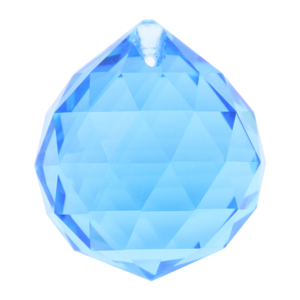 8 pcs/lot 40mm Aquamarine Crystal Prism Pendant Glass Lighting Part Crystal Hanging Ball For Lighting Accessories