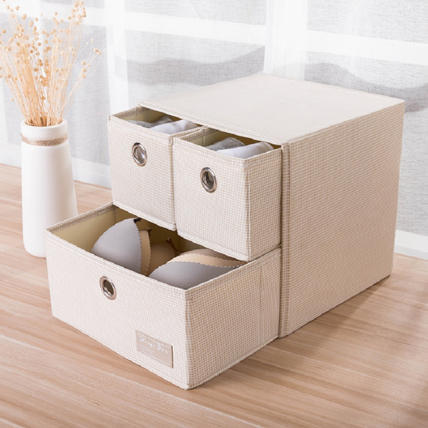 Square Collapsible Canvas Storage Box Foldable Kids Toys: Portable Folding Square Oxford Cloth Storage Box 27*27