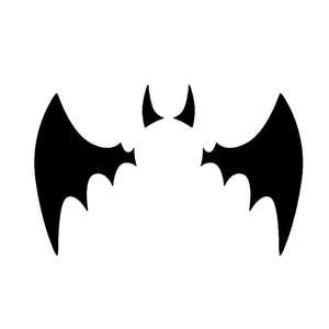 Image 1 - 11*6.7 CM Batman Yarasa Logo Yansıtıcı Araba Çıkartmaları Kişiselleştirilmiş Araba Çıkartmaları Kapak Çizikler Volkswagen Için Siyah Gümüş # b1327