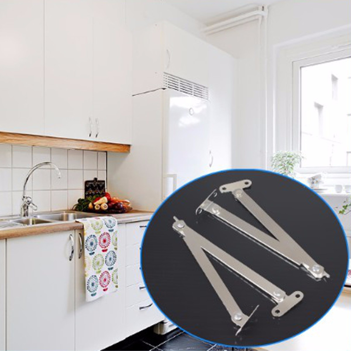 HTB1r0.EaAH0gK0jSZPiq6yvapXaJ - 2Pcs Stainless Steel Cabinet Cupboard Furniture Doors Close Lift Up Stay Support Hinge Kitchen Furniture Hardware