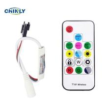 DC5V 14key Mini-RF wireless remote controller for led strip WS2811/WS2812B цены онлайн