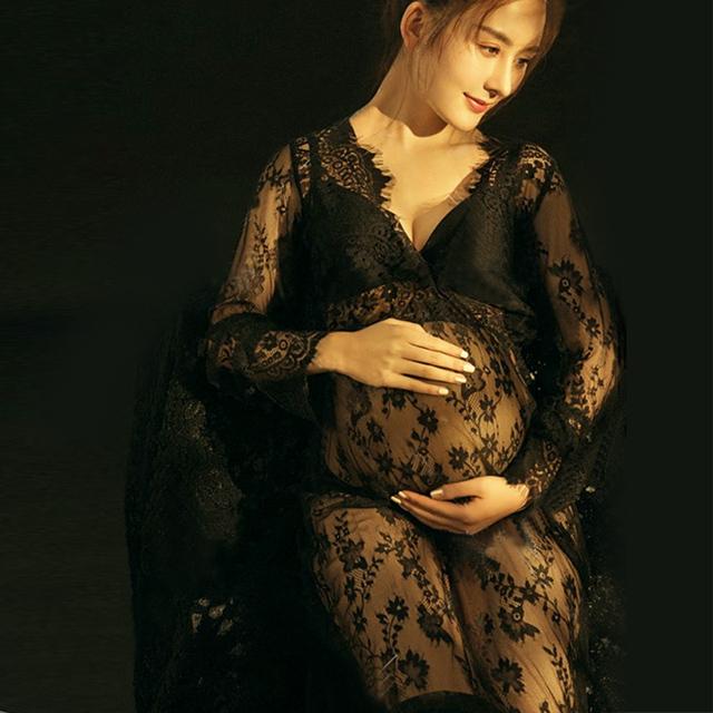2017 adereços fotografia de maternidade maxi vestido de maternidade rendas maternidade dress fantasia tiro foto de verão grávida dress plus size