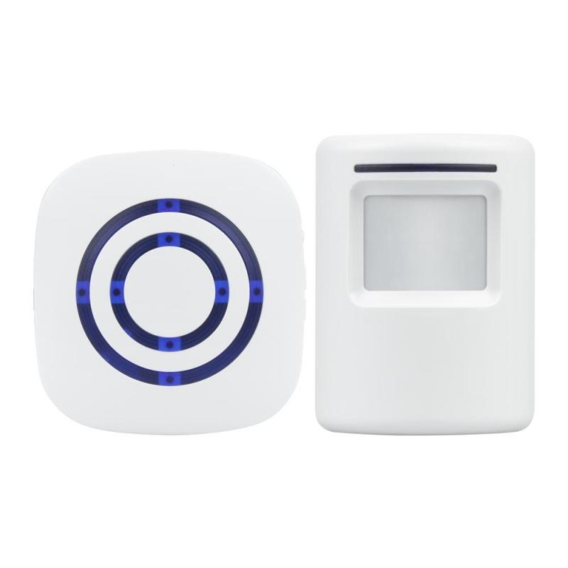 Wireless IR Sensor Doorbell Kit Remote Control Switch Induction Alarm Door Bell Welcome Motion Sensor Infrared Detector EU Plug wireless home security alarm system remote control anti theft ir infrared motion sensor alarm detector 2 remote controllers