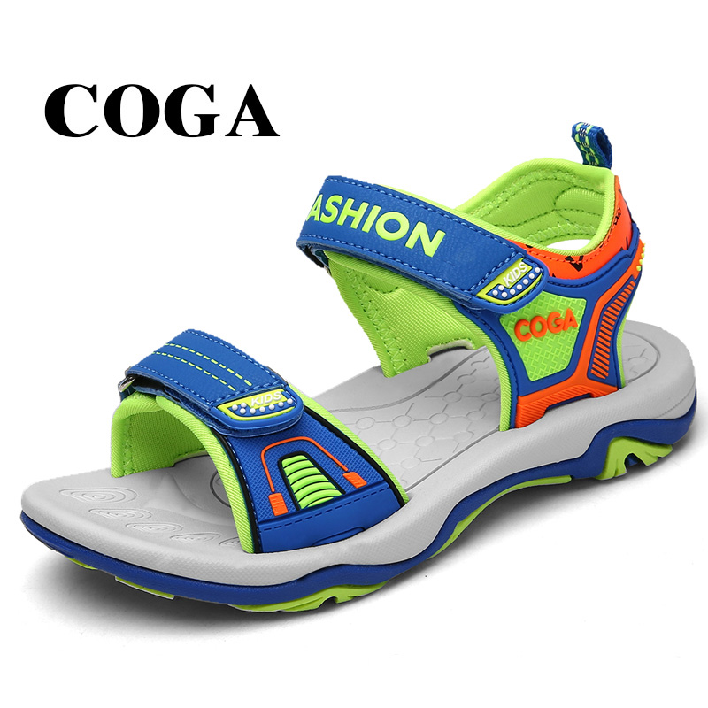 COGA augstas kvalitātes mazuļu atvērtu pirkstu sandales ar mazu - Bērnu apavi
