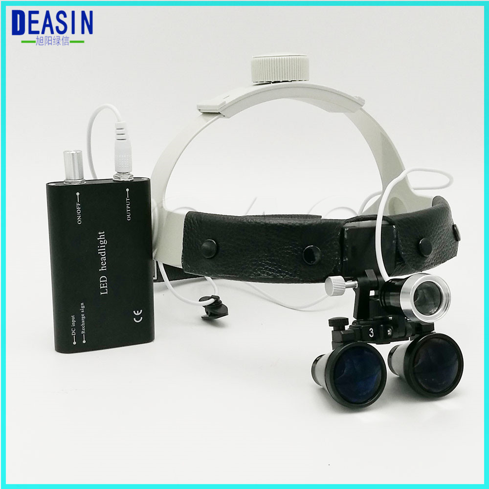 Good quality 3.5X Operation lamp surgical headlight Dental Loupes Medical Magnifier Dental Loupes 2018 good quality adjustable dental surgical headlight led headlamp black medical lab equipments