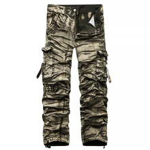 New Cargo Pants Men 3D Pleated Hip Hop Streetwear Camouflage Military Mens Loose Trousers Casual Summer Harem