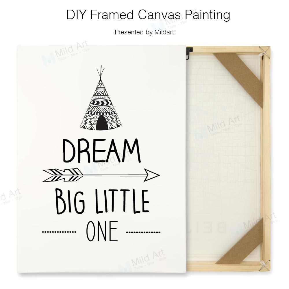 Black White Dream Motivation Quotes A4 Art Poster Wall Picture Diy Wooden Framed Canvas Hanging Paintings Nordic Kids Room Decor Painting Calligraphy Aliexpress