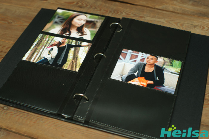 PU-Leder DIY Fotoalbum Scrapbook Foto Album Buchalbum Scrapbooking