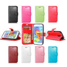цены Hot S5 Mini Wallet Style leather case For Samsung Galaxy S5 Mini G800 Book Style back Cover Flip Stand Design With Card Slot
