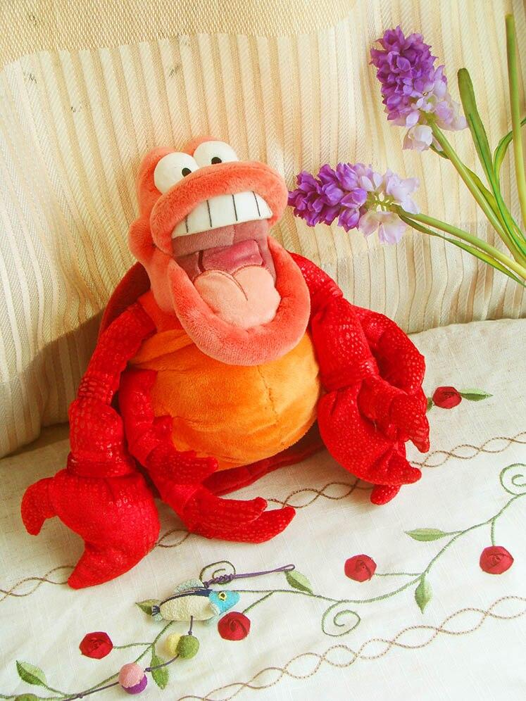 The Little Mermaid 30CM plush The Little Mermaid toy Sebastianthe Crab Plush Toys