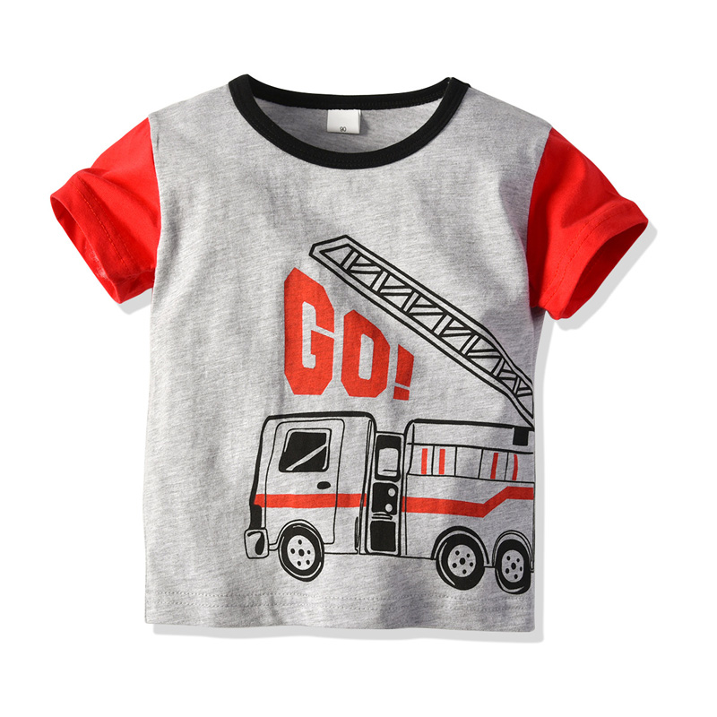 Boys Summer Clothes Pure Cotton Car Printed Patterns Home Suit Children 39 s Round collar Short sleeved Nightwear in Pajama Sets from Mother amp Kids