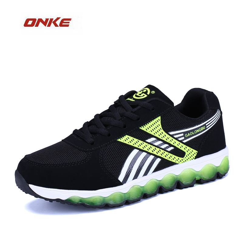 2017 ONKE Brand Newest Man Sports Running Shoes Breathable Summer Spring Damping Sneaker 3 Colors Size From US 36-45 Big Size