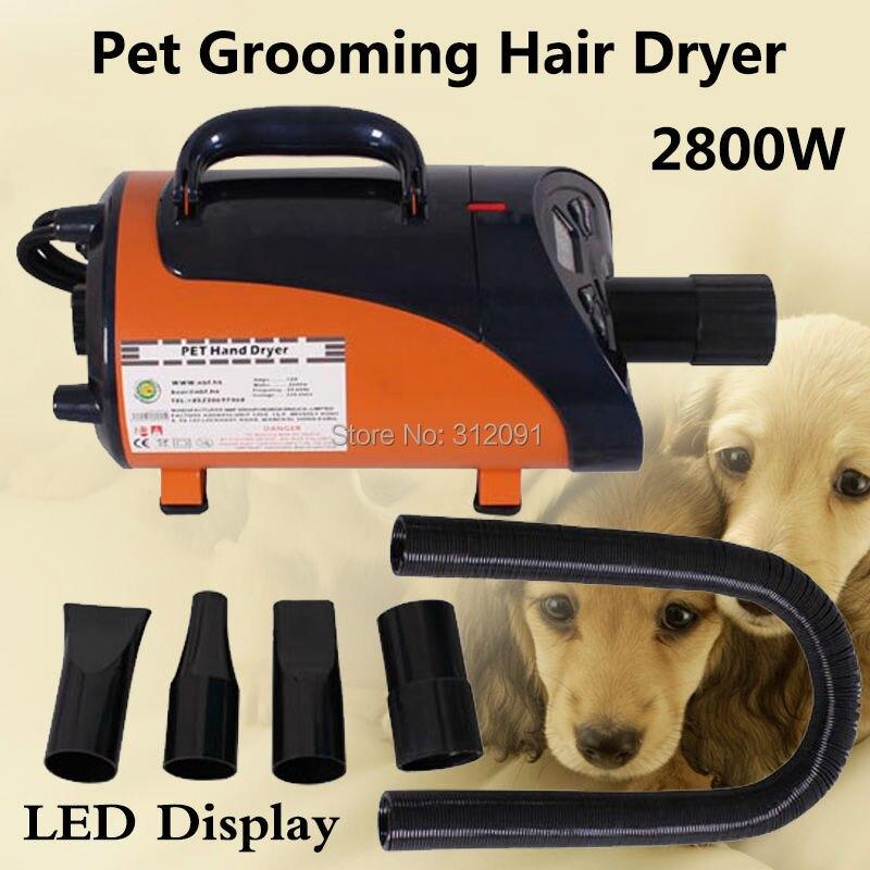 (Корабль из ЕС) 2800 Вт высокое мощность Pet фен для волос Собака Pet сушилка для груминга воздуходувы нагреватель, уход за домашними животными ...