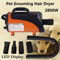 (Ship from EU) 2800W High Power Pet Hair Dryer Blower Dog Pet Grooming Dryer Blower Heater, Pet Grooming Trockner+ 3 Nozzles