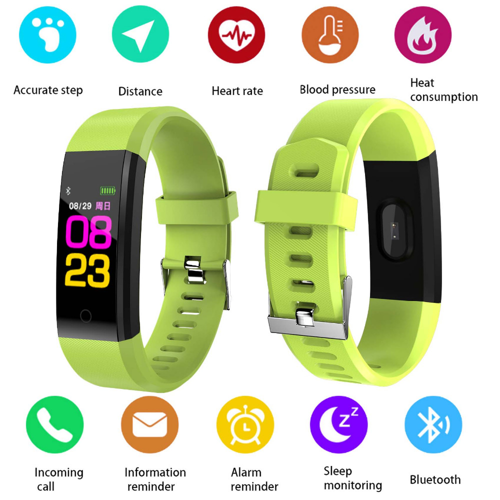 For OPPO A57 A77 A59s A37 VIVO X21 X20 C9 Bluetooth Sport Smart Wristband Fashion Smart Bracelet Band Heart Rate Fitness Tracker