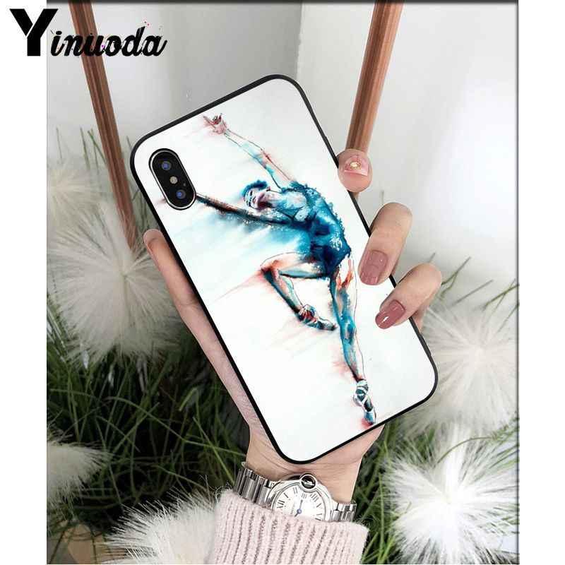 Yinuoda ballroom dancing สาวบัลเล่ต์รองเท้ารองเท้าแตะที่กำหนดเองโทรศัพท์กรณีสำหรับ iPhone 5 5Sx 6 7 7plus 8 8Plus X XS MAX XR
