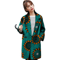 Fashion Women Casual Outwear African Print Dashiki Clothes Custom Exquisite Tailoring Design Coat Africa Clothing