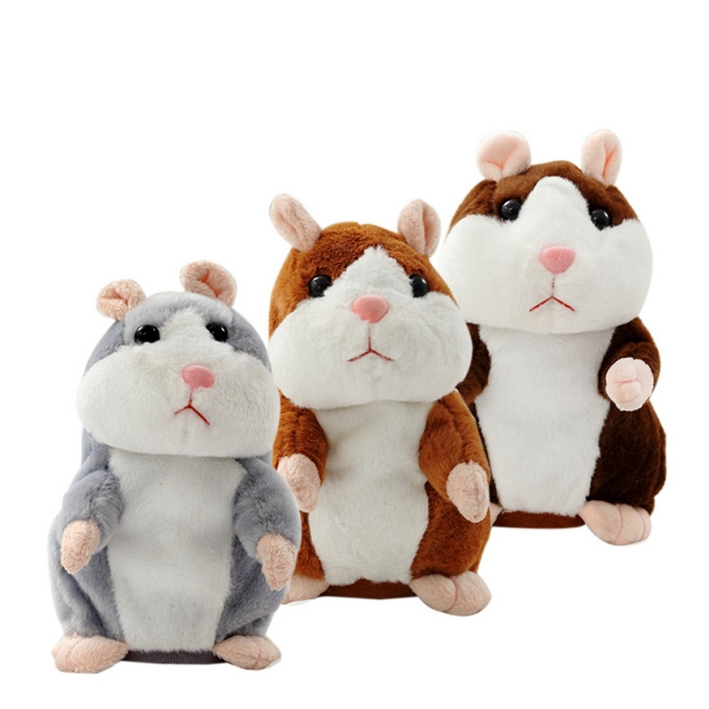 Magic Talking Hamster Pulse Toy Mimicry Pet Electronic Mouse Educational Toy Recording Repeats What You Say Imitate Human Voice