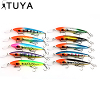 10PCS 24 4g 16cm Minnow Lures Fishing Hard Baits Isca Artificial Ocean Boat Sea Hook Wobbler