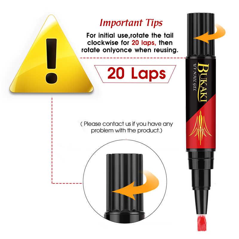 BUKAKI 60 couleurs 3 en 1 vernis à ongles stylo Art des ongles conseils vernis UV Gel hybride une étape ongles colle pas besoin Top couche de Base