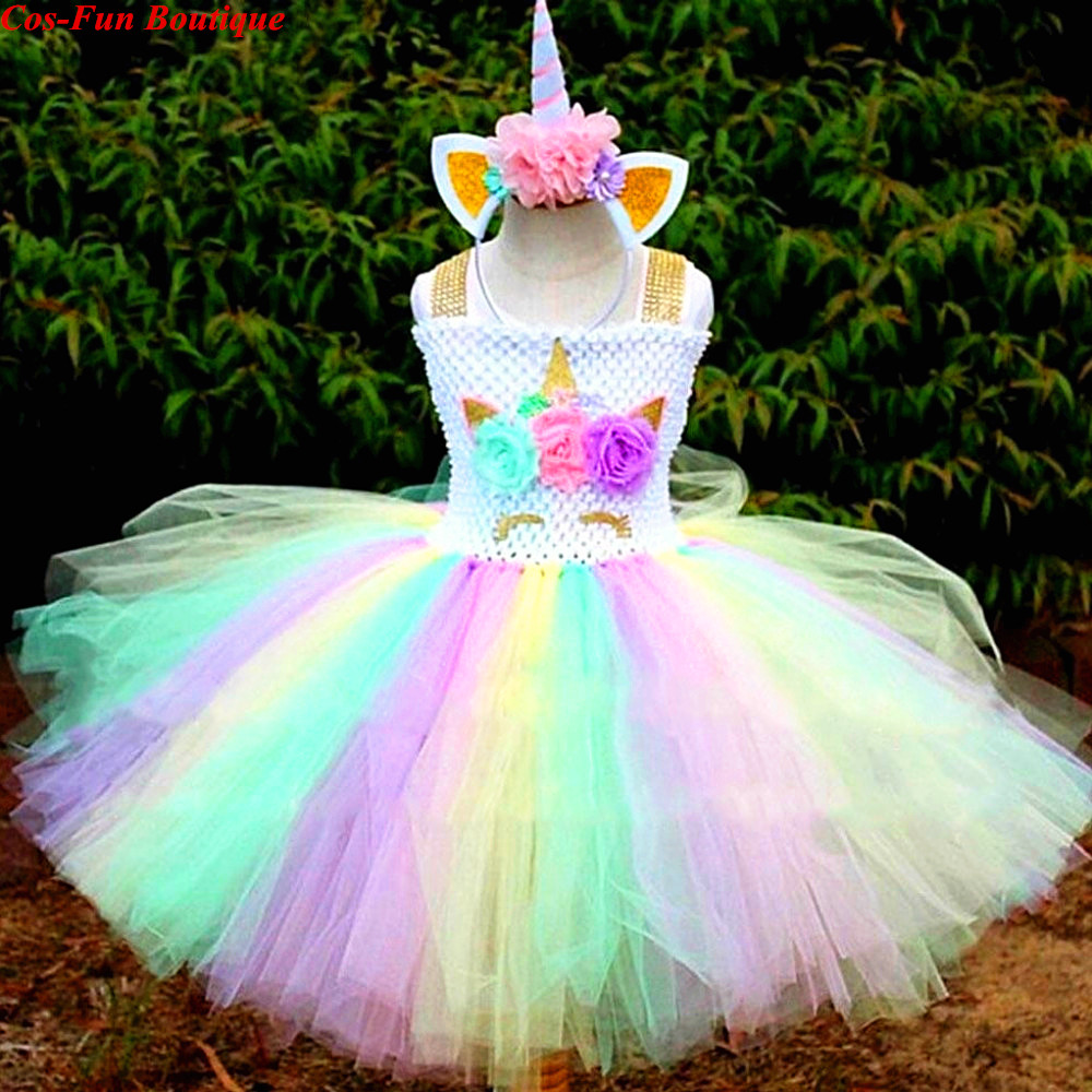 unicorn theme girl birthday party dress hot sale toddler