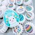 Mischen Ostern Bunny Ei Küken Transfer Blatt Für Schokolade Meringues Dekoration Zucker Stempel Papier Kuchen Dekorieren Werkzeuge|Weiteres Backwerkzeug|   -