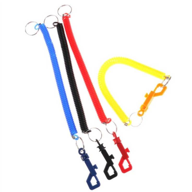 1pc praktyczne recta wiosna breloczek łańcuszek do telefonu komórkowego chowany nti-lost przewód telefoniczny brelok narzędzie elastyczny Keyfod
