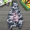 Anti social clube social camo hoodie, kanye west venda quente, banda de rua moletom com capuz