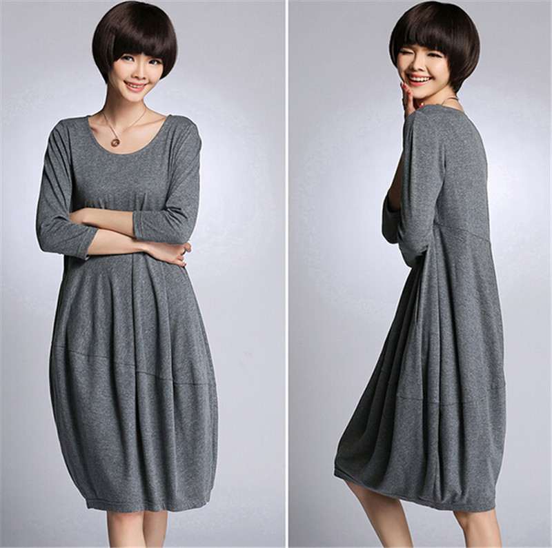 Images of Casual Grey Dress - The Fashions Of Paradise