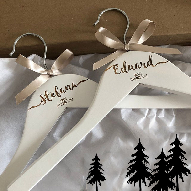 Personalised Engraved Dress Coat Hangers For Wedding Party Bride Maid Of Honour Bridesmaid Name And Role Keepsake Photo Prop