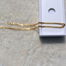 Благородное 24 к желтое твердое золото GF 3 мм двойной Кубинский Снаряженная итальянская цепь ожерелье 20 дюймов