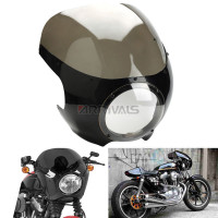 5 3/4 Cafe Racer Headlight Fairing Windscreen For Harley Sportster XL 883 1200 72 Dyna