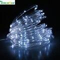 LemonBest Solar Luz Cordas 5/10 M 50/100 Led Fio de Cobre Luzes Cordas de Fadas Para a Vida Ao Ar Livre Decoração Do Natal jardim