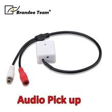 Дешевый и Мини микрофон аудио Микрофон для видеонаблюдения 12 В DC RCA выход аудио звук палочки для камеры безопасности DVRs