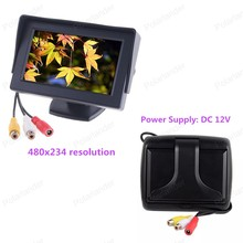Hot Sale 4.3 Inch 480×234 Color TFT LCD Parking Car Rear View Monitor Car Reverse Backup Monitor Reverse Camera DVD