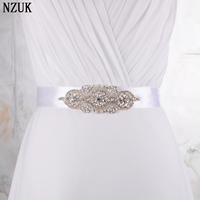 Best Price Elegent Flower Style Crystal Bridal Sash Rhinestone Wedding Party Bride Bridesmaid Belt Dress Sash 16 colors