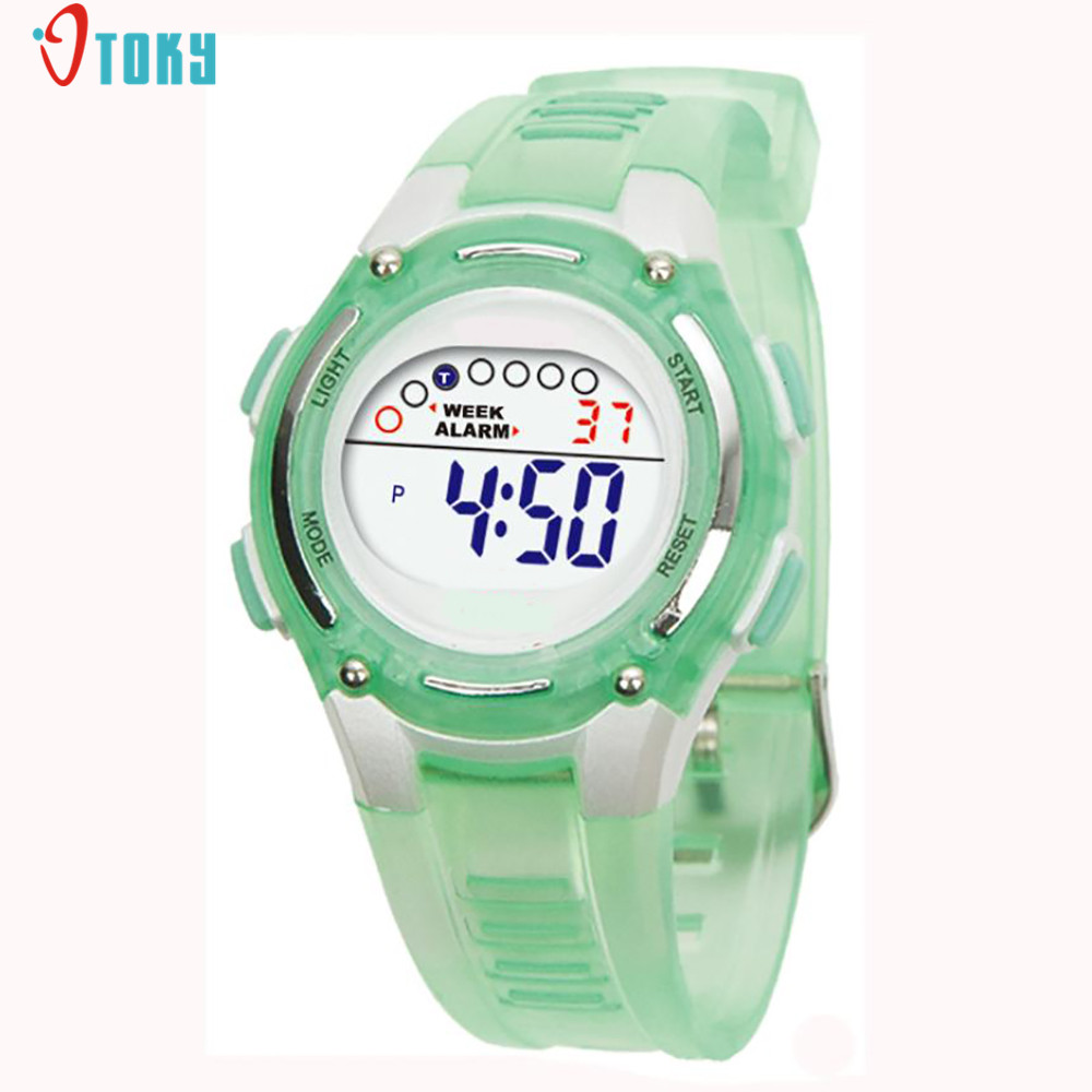 New Colorful Children Boys Girls Watches Sports Digital Clocks Swimming Waterproof Wrist Watch New May04