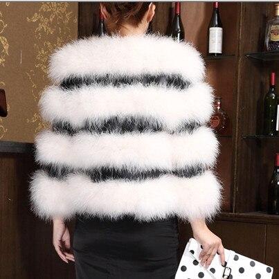 La Taille Sobretudo V764 En 2018 Fourrure Femme Pu Splice Inverno Blanc Plus Cuir D'autruche De Veste Hiver Feminino Manteau TlFcK1J
